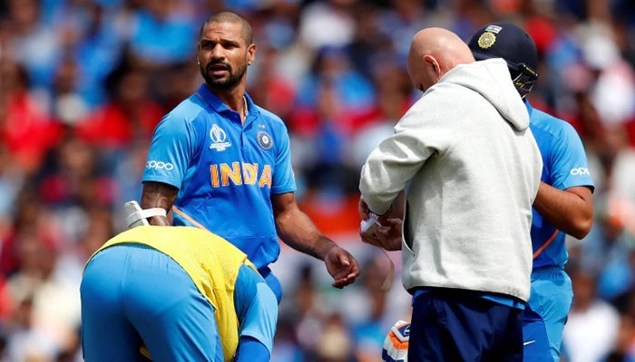 Shikher Dhawan Ruled Out Of World Cup 2019