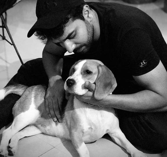 Manit Joura with his dog