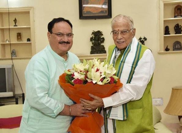 Jagat Prakash Nadda With Murli Manohar Joshi