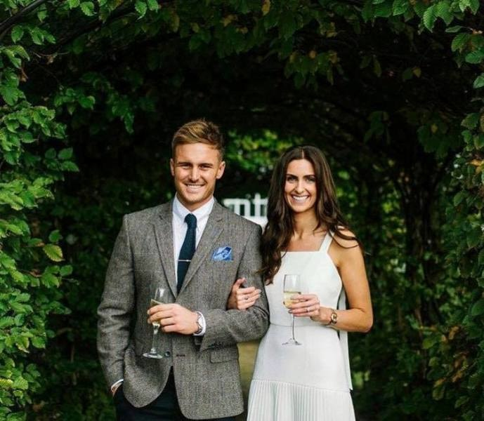 Jason Roy with wife Elle