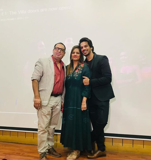 Shrey Mittal with his mother and father