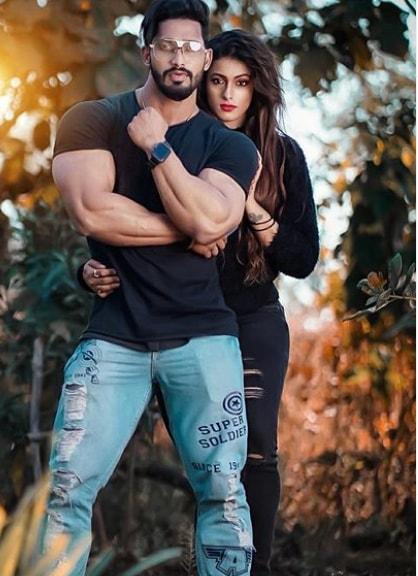 Megha Karpe With Her Husband