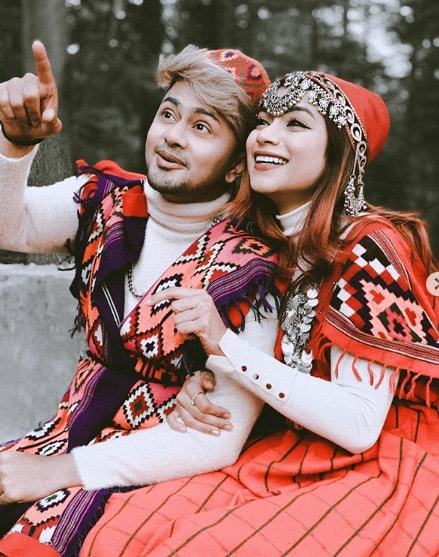 Nagma Mirajkar with her bofriend
