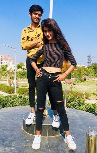 Ammye Singh with her Boyfriend Praven