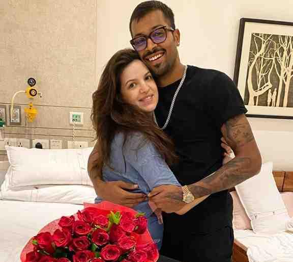 Hardik Pandya with Her Wife Natasha